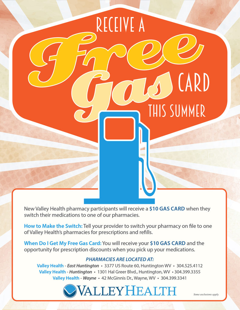Valley Health Free Gas Flyer